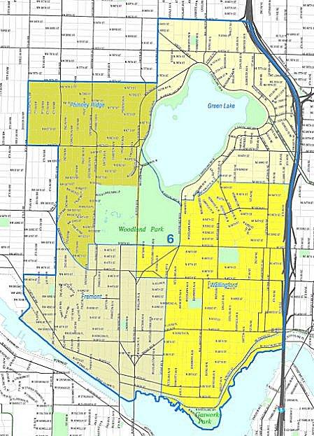 Seattle Fremont-Wallingford-Greenlake Map